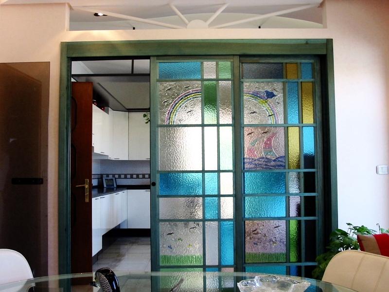Eccezionale Vetri colorati artistici per porte e finestre scorrevoli o a  DP14