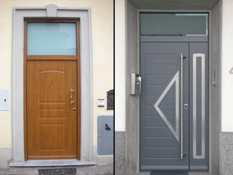 Porte blindate con vetro moderne kp41 regardsdefemmes - Porte in alluminio per esterni prezzi ...