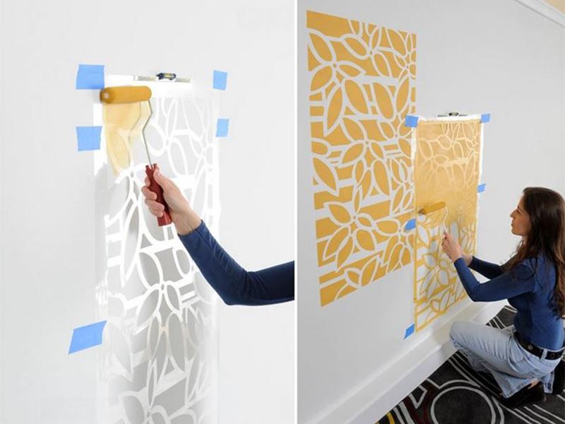 Idee e consigli per imbiancare for Stencil per pareti